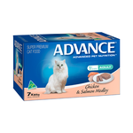Advance Advance Adult Chicken And Salmon Medley Wet Cat Food Trays 42 x 85g