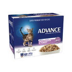 Advance Advance Adult Chicken And Turkey In Jelly Wet Cat Food Pouches 12 x 85g