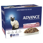 Advance Advance Adult Ocean Fish In Jelly Wet Cat Food Pouches 12 x 85g