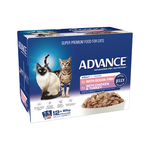 Advance Advance Adult Ocean Fish With Chicken And Turkey In Jelly Wet Cat Food Pouches 12 x 85g