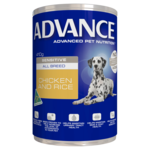 Advance Advance Adult Sensitive All Breed Chicken And Rice Wet Dog Food Cans 12 x 700g