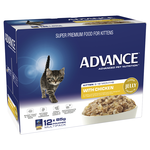 Advance Advance Kitten Chicken In Jelly Wet Cat Food Pouches 12 x 85g