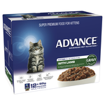 Advance Advance Kitten Lamb In Gravy Wet Cat Food Pouches 12 x 85g