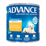 Advance Advance Puppy Plus Growth Chicken And Rice Wet Dog Food Cans 12 x 700g