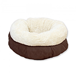 All For Paws Afp Lambs Wool Donut Bed Brown