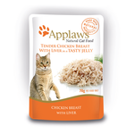 Applaws Applaws Wet Cat Food Chicken Liver Jelly Pouch 16 x 70g