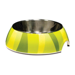 Catit Catit 2 In 1 Style Durable Cat Bowl Green Jungle Stripes