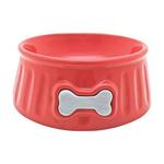 Dogit Dogit Ceramic Dog Bowl Round Red