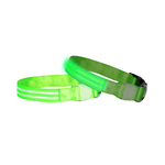 Doglite Doglite Double Trouble Led Collars Green Glow