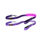 Doglite Doglite Double Trouble Led Leash Purple Haze