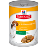 Hills Science Diet Hills Canine Puppy Savoury Stew Chicken Vegetable Cans 12 x 362g