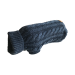 Huskimo Huskimo Dog Jumper Cable Knit Navy