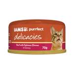 Iams Iams Cat Delicacies Beef Salmon Dinner Gravy 24 x 70g