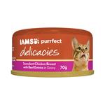 Iams Iams Cat Delicacies Chicken Beef Entree Gravy 24 x 70g