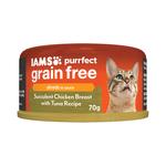 Iams Iams Cat Grain Free Chicken Breast Tuna 24 x 70g