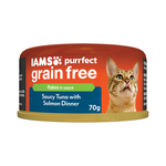 Iams Iams Cat Grain Free Saucy Tuna Salmon Dinner 24 x 70g