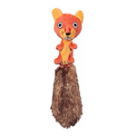 JW Pet Jw Crackle Heads Plush Squirrel