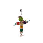 Kazoo Kazoo Bird Toy Colourful Wicker Balls With Decoration
