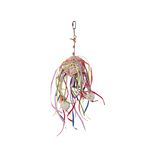 Kazoo Kazoo Bird Toy Wicker Ball With Hanging Vines