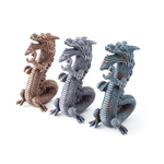 Kazoo Kazoo Chinese Dragon Gold Grey Jade