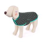 Kazoo Kazoo Snuggle Jacket Sketches Pattern Grey Teal