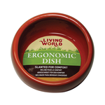 Living World Living World Ceramic Ergonomic Pet Dish Terracotta