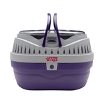 Living World Living World Small Animal Carrier Small Purple Grey