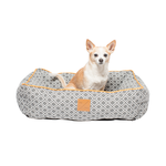 Mog and Bone Mog And Bone Bolster Bed Ikat Grey