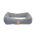 Mog and Bone Mog And Bone Bolster Bed Ikat Navy