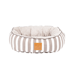 Mog and Bone Mog And Bone Cat Reversible Bed Latte Hamptons Stripe