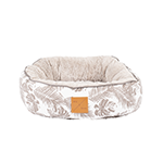 Mog and Bone Mog And Bone Cat Reversible Bed Mocca Tropical Leaves Print