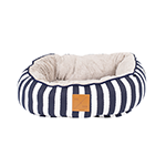 Mog and Bone Mog And Bone Cat Reversible Bed Navy Hamptons Stripe