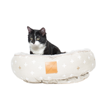 Mog and Bone Mog And Bone Cat Reversible Circular Bed Cross Oatmeal