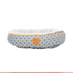 Mog and Bone Mog And Bone Cat Reversible Circular Bed Ikat Grey