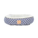 Mog and Bone Mog And Bone Cat Reversible Circular Bed Ikat Navy