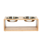 Mog and Bone Mog And Bone Feeding Station Bamboo Stainless Steel