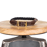 Mog and Bone Mog And Bone Leather And Brass Rope Collar Black