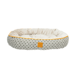 Mog and Bone Mog And Bone Reversible Circular Bed Ikat Grey
