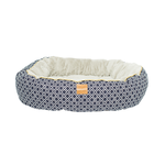 Mog and Bone Mog And Bone Reversible Circular Bed Ikat Navy