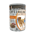 Optimum Optimum Adult Beef Rice Dog Food 24 x 400g