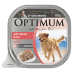 Optimum Optimum Dog Adult Salmon Rice Veges 12 x 100g
