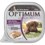 Optimum Optimum Dog Puppy Chicken Rice Veges 12 x 100g