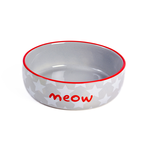 Petface Petface Ceramic Bowl Meow White Star