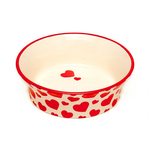 Petface Petface Ceramic Bowl Red Hearts Flared