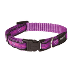 Rogz Rogz Collar Purple Chrome