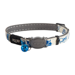 Rogz Rogz Glowcat Collar Blue Floral