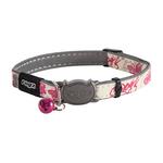 Rogz Rogz Glowcat Collar Pink Butterflies