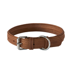 Rogz Rogz Leather Pin Buckle Collar Brown