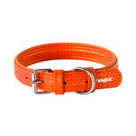 Rogz Rogz Leather Pin Buckle Collar Orange