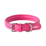 Rogz Rogz Leather Pin Buckle Collar Pink